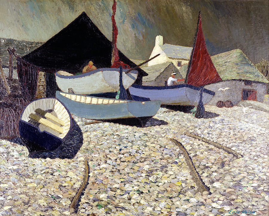 Fishing Painting - Cadgwith The Lizard by Eric Hains