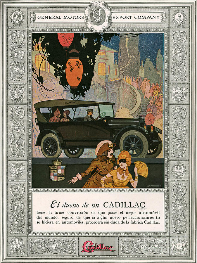 Adverts Drawing - Cadillac 1920 1920s Usa Cc Cars by The Advertising Archives