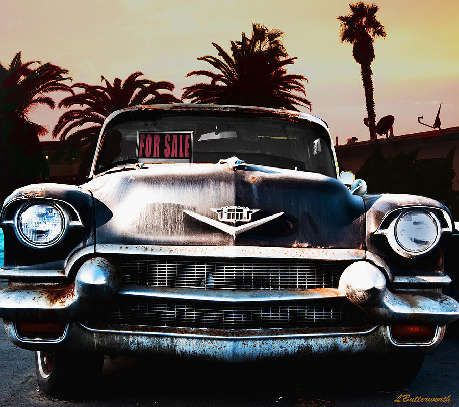 Transportation Photograph - Cadillac Blues by Larry Butterworth