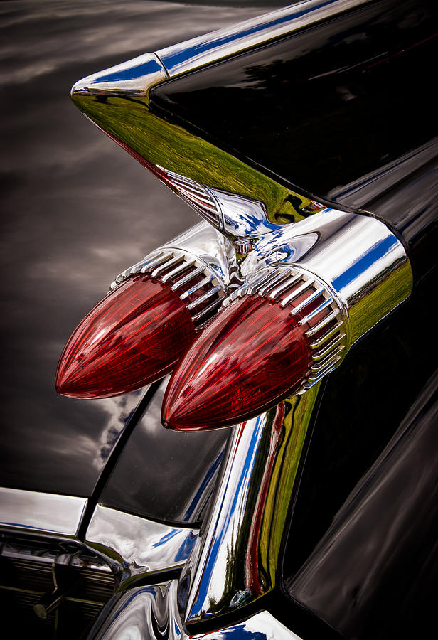 Cadillic Chrome Photograph - Cadillac Fin by Phil motography Clark