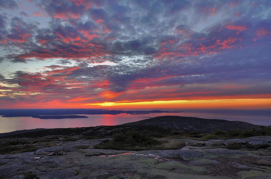 Sunrise Photograph - Cadillac Mountain Sunrise 2 by Stephen  Vecchiotti