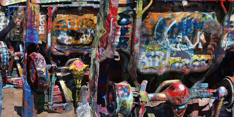 Graffiti Photograph - Cadillac Ranch Abstract by Stephen Farley