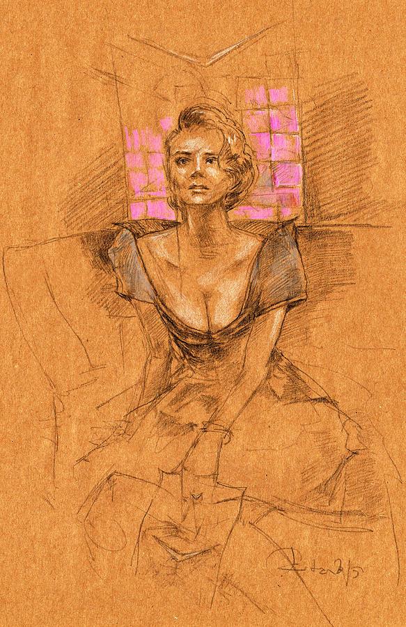 Cadillac Painting - Cadillac Woman by Ertan Aktas