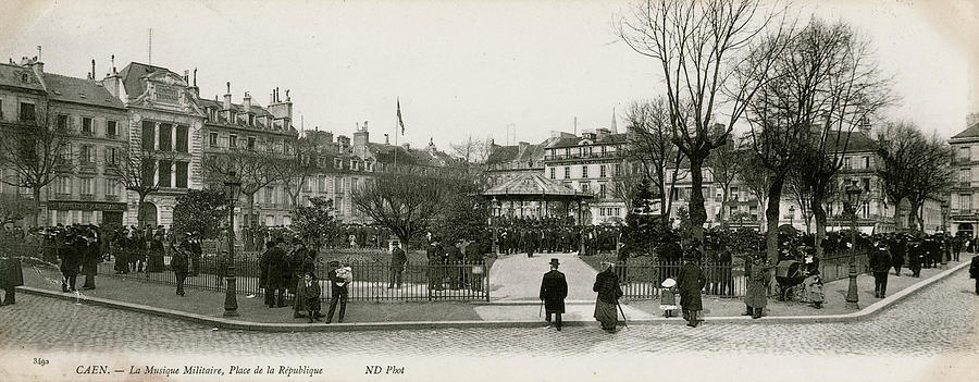 France Photograph - Caen, Normandy, Northern France  Place by Mary Evans Picture Library