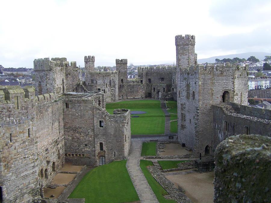 Castles Photograph - Caernarfon Castle by Christopher Rowlands