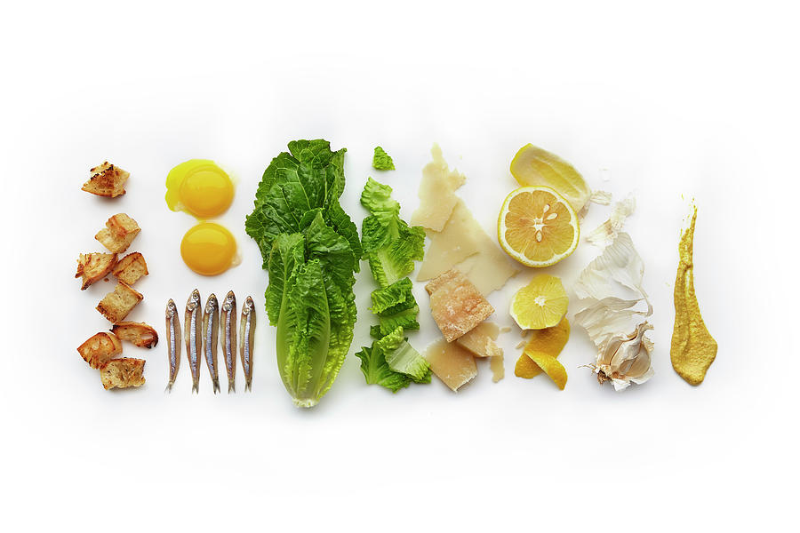 Caesar Salad Ingredients Photograph by Lew Robertson