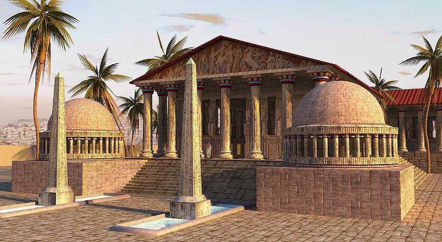 Caesareum Temple Ancient Alexandria Painting By Don Dixon