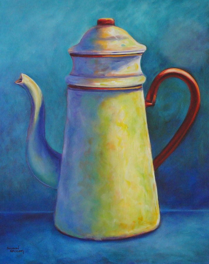 Coffee Painting - Cafe Au Lait by Shannon Grissom