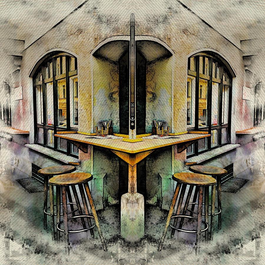 Cafe Photograph - Cafe Bar by Angel Eowyn