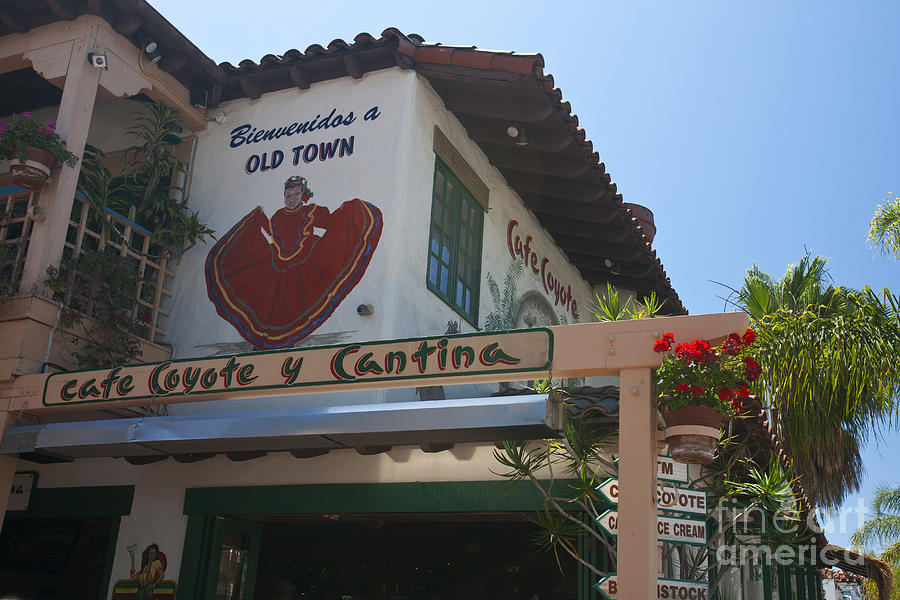 Cafe Coyote Y Cantina Mexican Restaurant Old Town San Diego Photograph