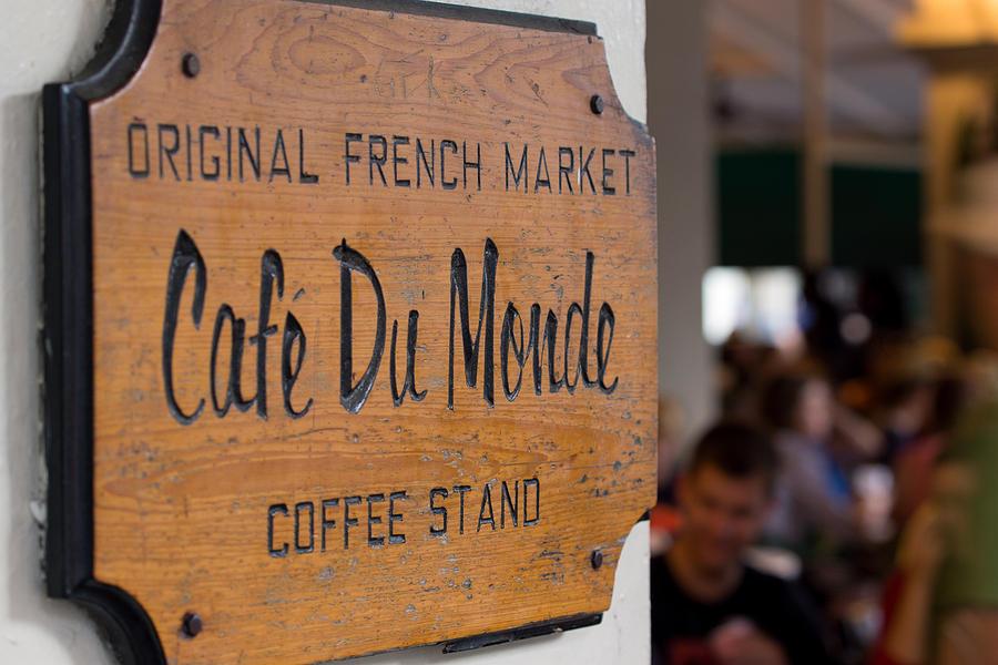 Cafe Du Monde Photograph - Cafe Du Monde Sign by Gregory Cox