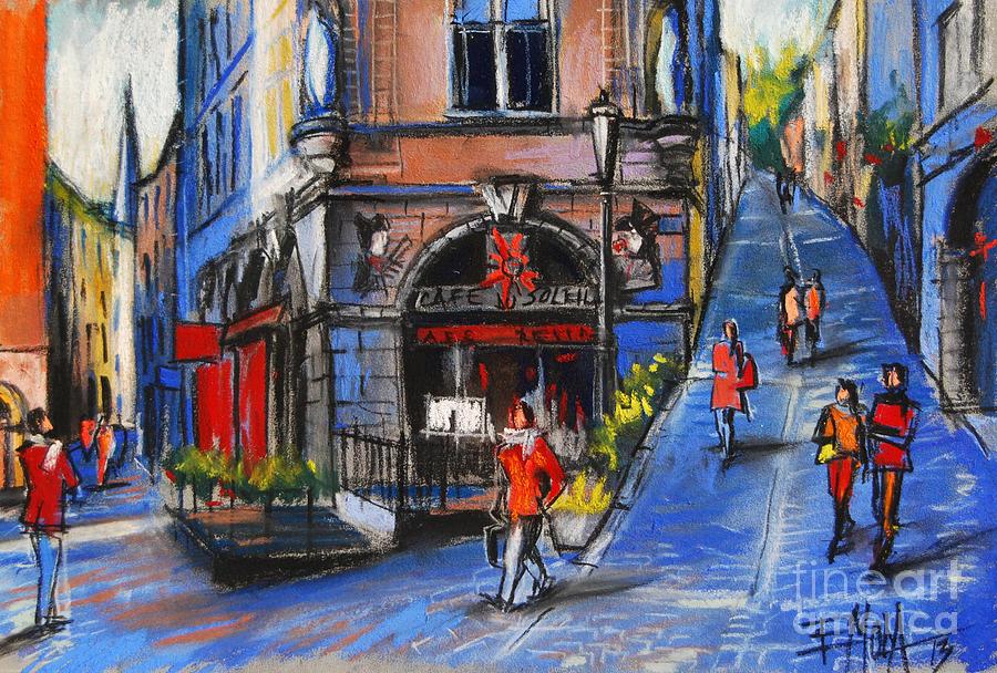 Emona Pastel - Cafe Du Soleil - Place De La Trinite - Lyon France by Mona Edulesco