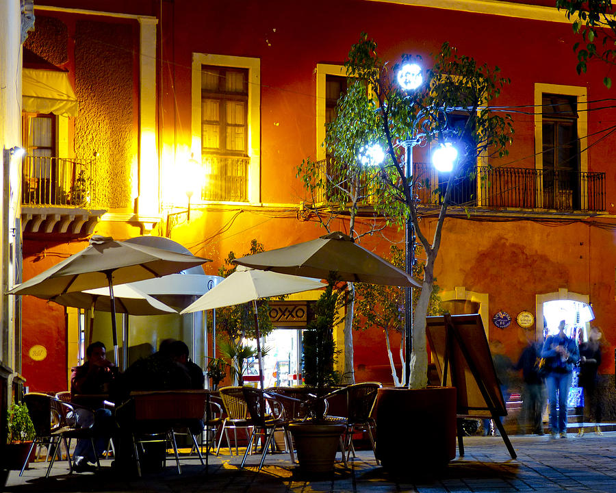 Mexico Photograph - Cafe Evening by Douglas J Fisher