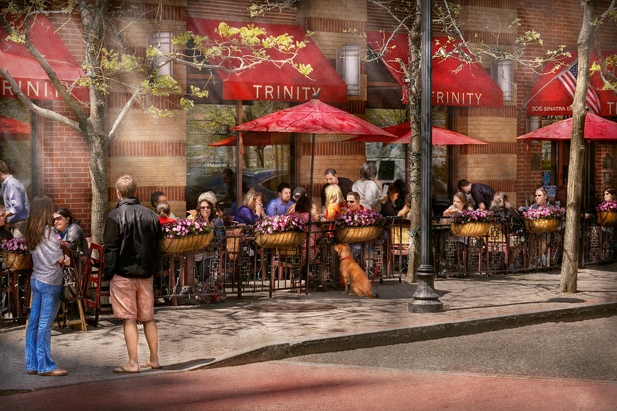 Savad Photograph - Cafe - Hoboken Nj - Cafe Trinity  by Mike Savad