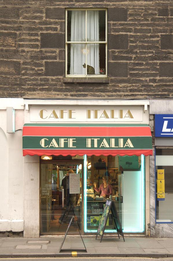 Cafe Photograph - Cafe Italia by Mike McGlothlen