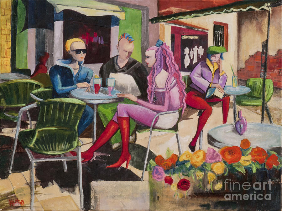 Fauvism Painting - Cafe Marseille by Elisabeta Hermann