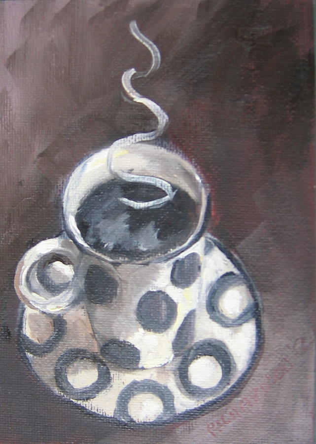 Coffee Painting - Cafe Noir by Susan Richardson
