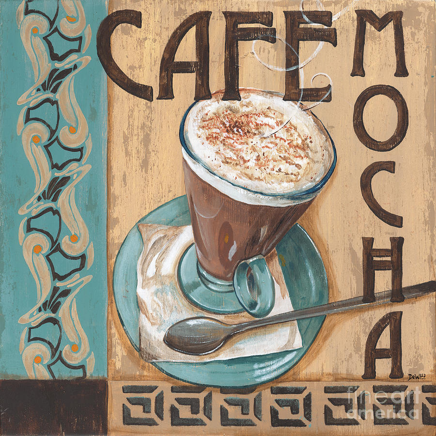 Food Painting - Cafe Nouveau 1 by Debbie DeWitt