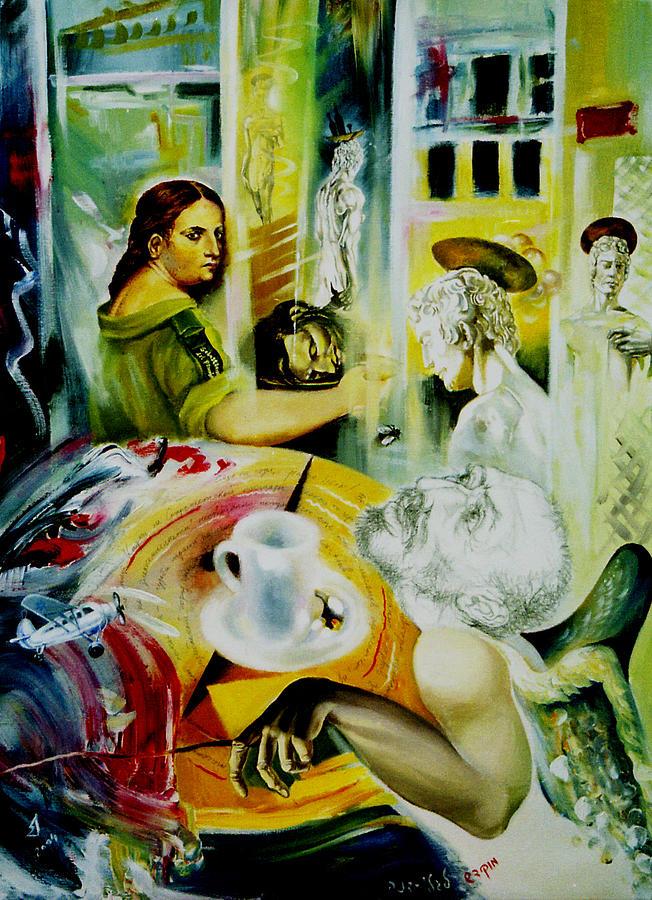 Israel Painting - Cafe Salome by Nekoda  Singer