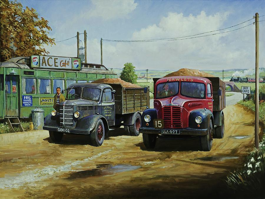 Tipper Painting - Cafe Society. by Mike Jeffries