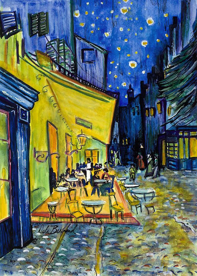 Van Gogh Painting - Cafe Terrace At Night by Dale Bernard