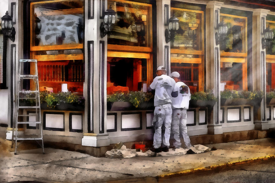 Savad Photograph - Cafe - The Painters by Mike Savad