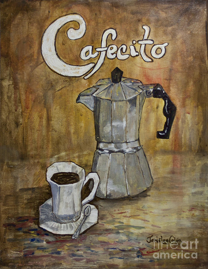 Cafecito Painting - Cafecito by Janis Lee Colon