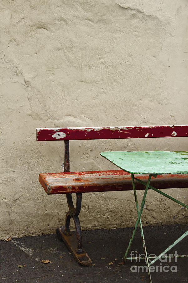Table Photograph - Cafeteria by Margie Hurwich