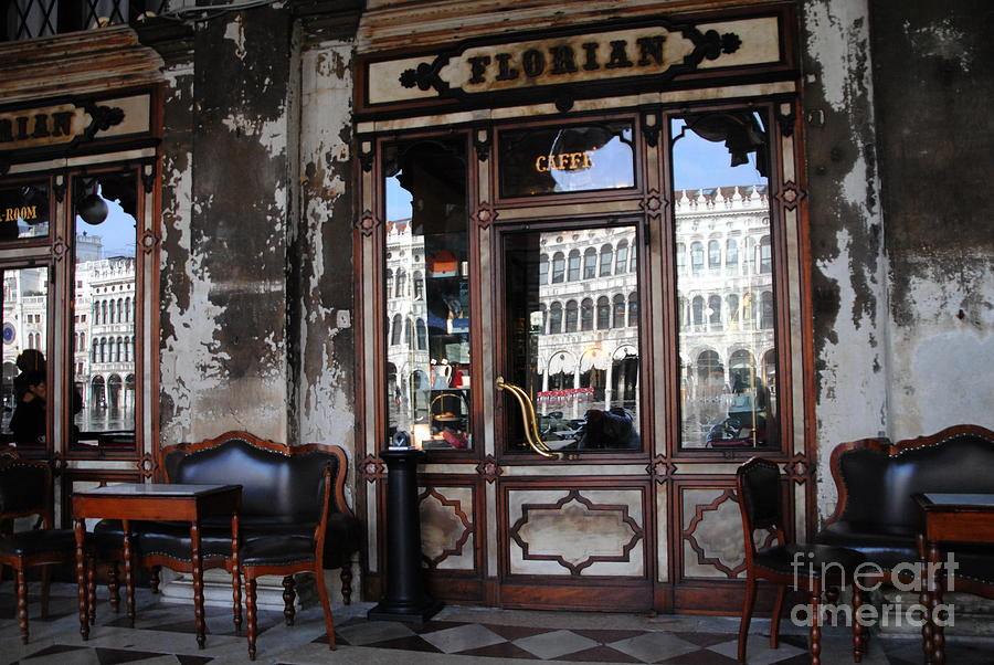 Venice Photograph - Caffe Florian - Venetian Icon by Jacqueline M Lewis