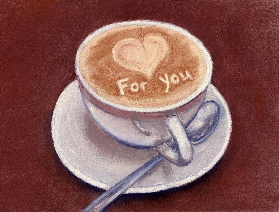 Cup Painting - Caffe Latte by Anastasiya Malakhova