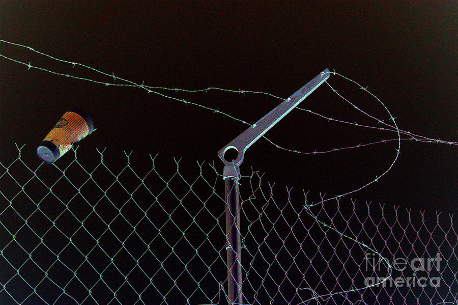 Barbed Wire Photograph - Caffeinated Jail Break by Joe Jake Pratt