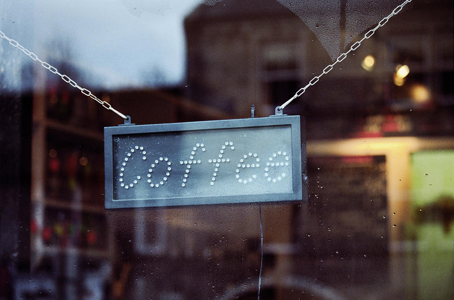 Caffetteria Bar Sign - Coffee Text Photograph by Marcoventuriniautieri