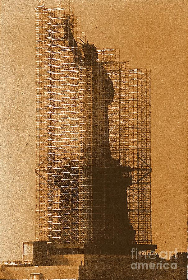 New York Lady Liberty Statue Of Liberty Caged Freedom Photograph