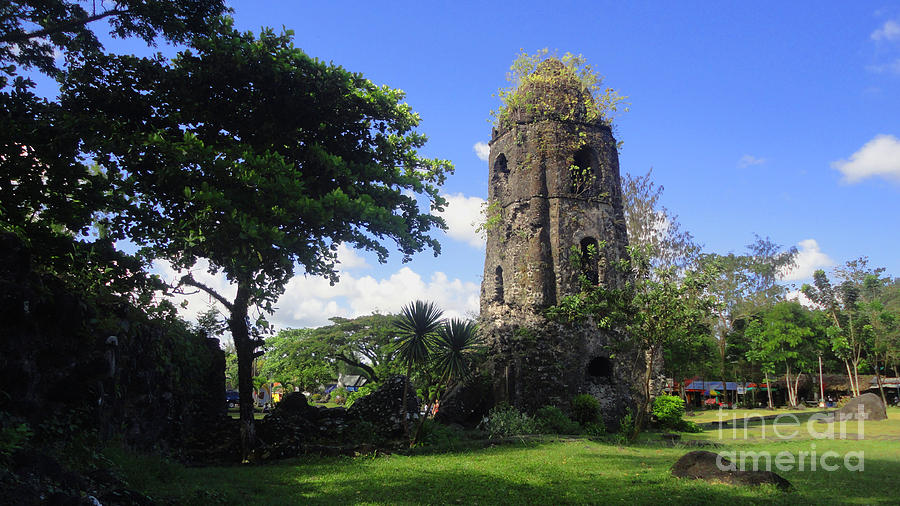 Cagsawa Ruins Photograph - Cagsawa One by Manuel Cadag