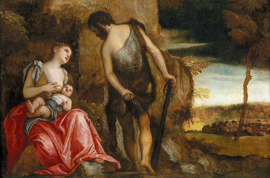 Cinquecento Painting - Cain As A Fugitive With His Family by Paolo Veronese