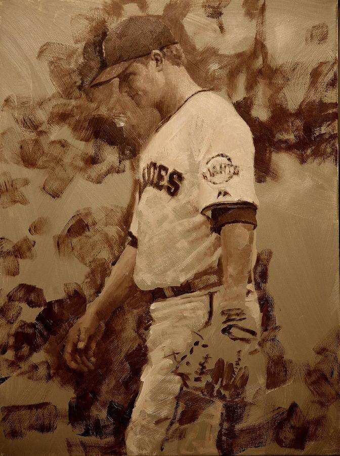 Matt Cain Painting - Cain Walk by Darren Kerr