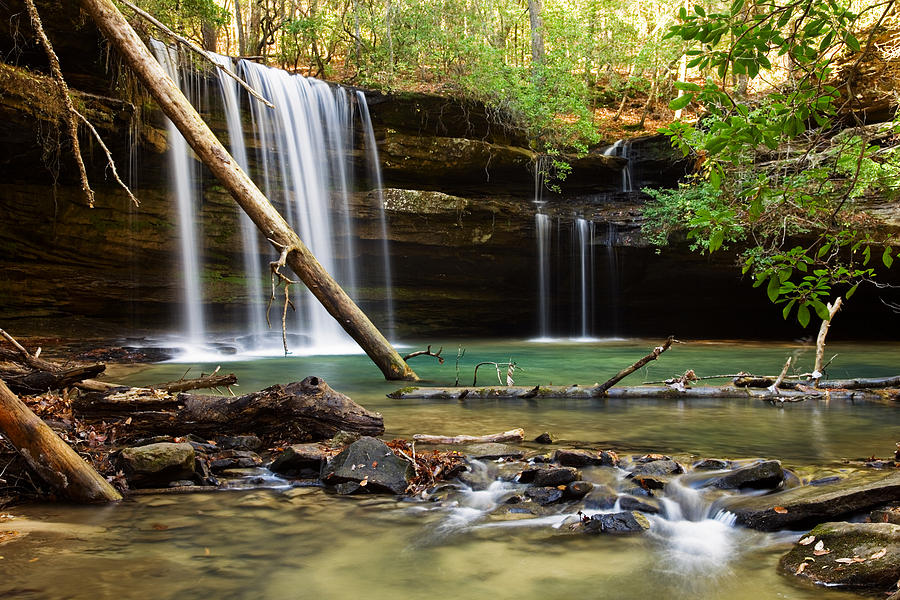 Alabama Photograph - Cainey Creek Falls by Scott Moore
