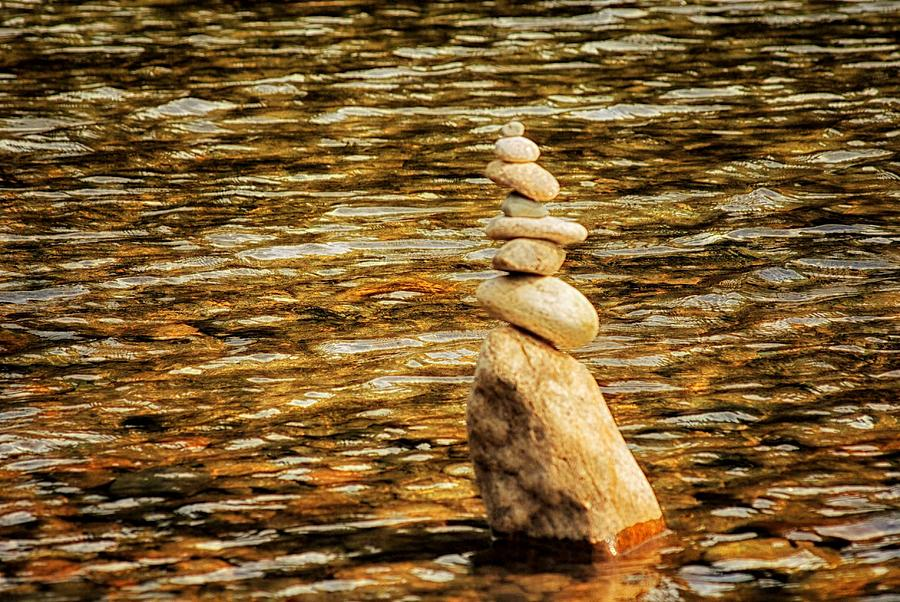 Nature Photograph - Cairns by Tricia Marchlik