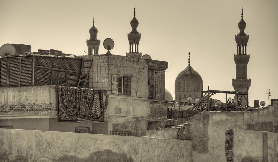 Cairo Photograph - Cairo Skyline II by Nigel Fletcher-Jones