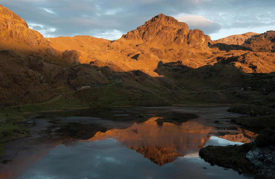 Andes Photograph - Cajas National Park (3000-4,400m by Pete Oxford