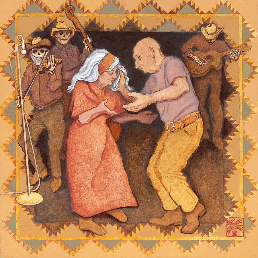 Brown Painting - Cajun Stomp by Ruth Hooper