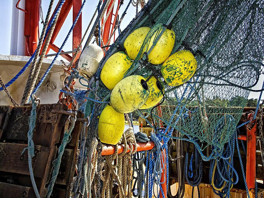 Calabash Shrimp Nets by Sandra Anderson