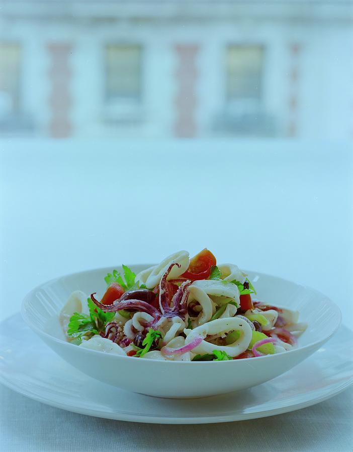 Calamari Salad Photograph by Romulo Yanes
