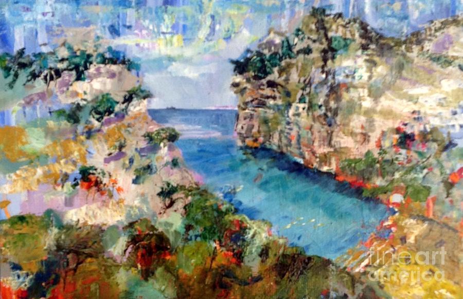 Mediterranean Painting - Calanque Den Vau-1 by Chris Irwin Walker