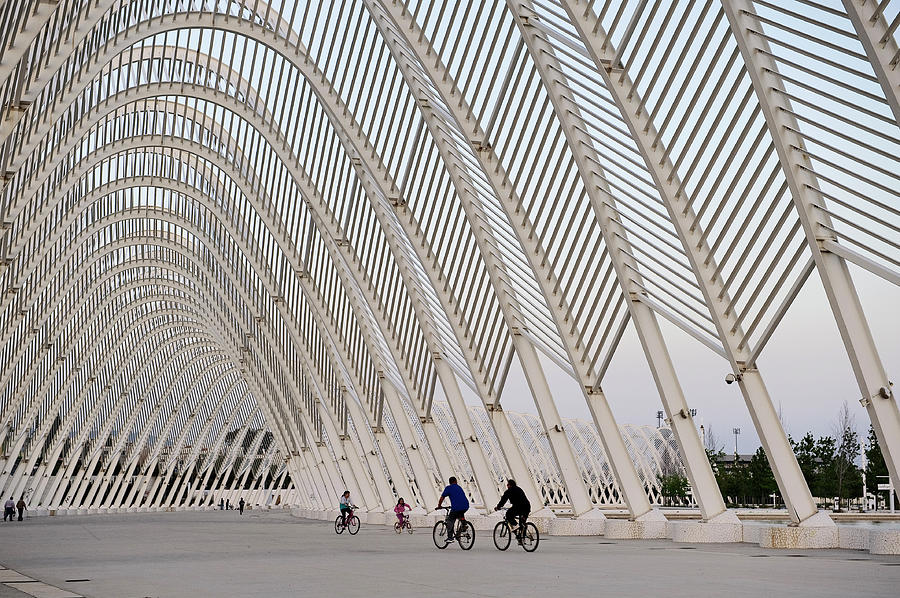 Calatrava Arches, Olympic Village Photograph by Izzet Keribar