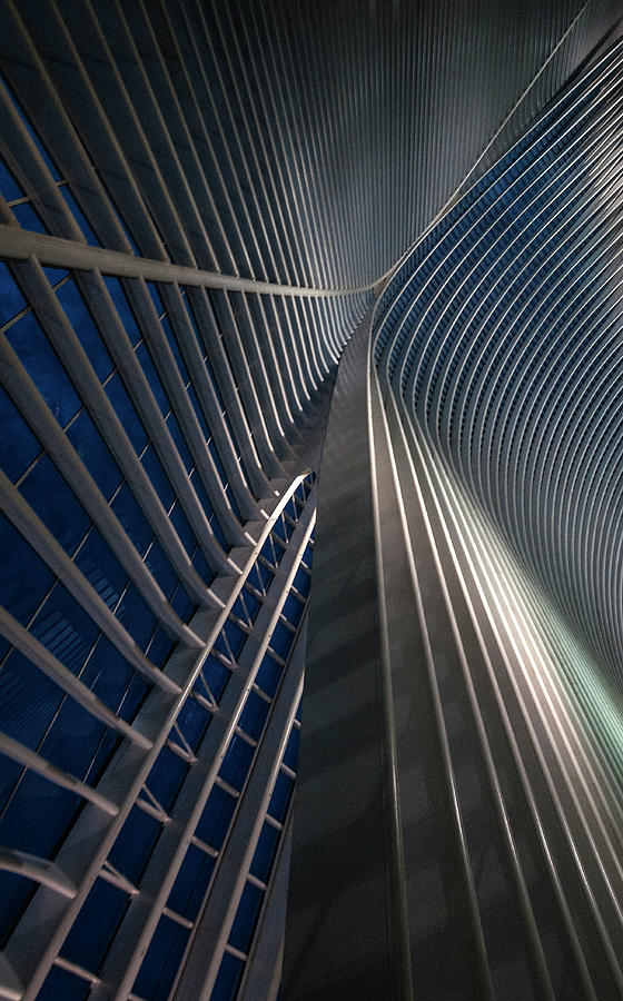 Architecture Photograph - Calatrava Lines At The Blue Hour by Jef Van Den