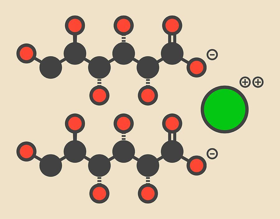 Calcium Photograph - Calcium Gluconate Drug Molecule by Molekuul