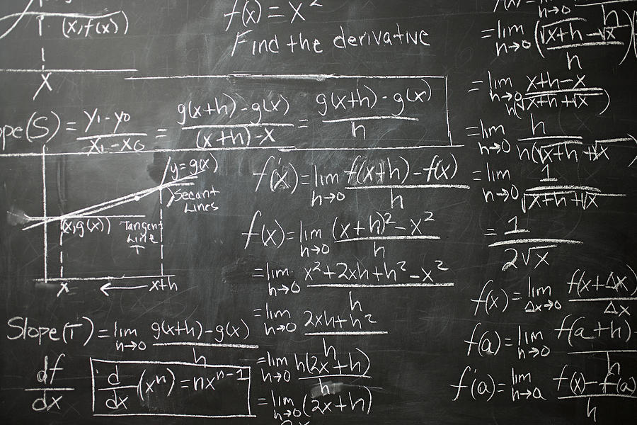 Calculus on blackboard Photograph by Image Source