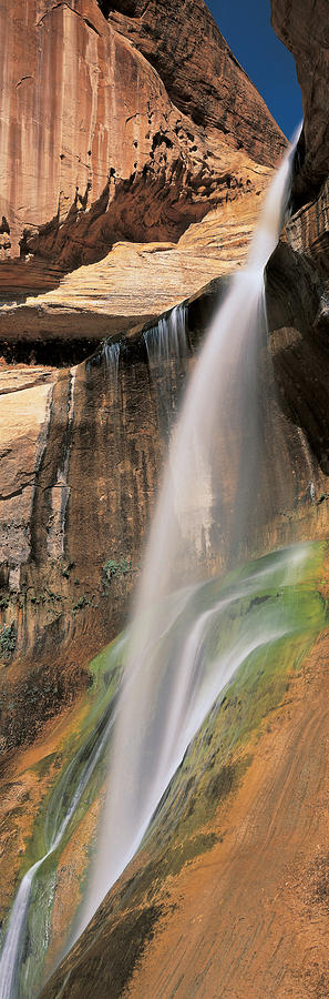 Color Image Photograph - Calf Creek Falls Ut Usa by Panoramic Images