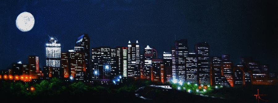 Calgary Painting - Calgary Canada by Thomas Kolendra